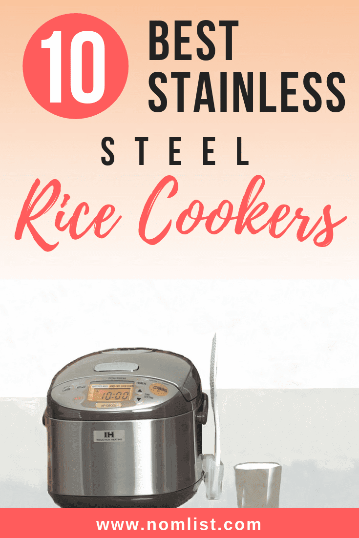Some studies have shown that non-stick surfaces or Teflon could contribute to Cancer. We made a list of the 10 best Stainless Steel rice cookers for home use so you can be sure that you family eats delicious and safe rice!#rice #ricecooker #kitchenware #kitchentools #ricemaker #stainlesssteel #cooking #kitchen #asianfood #asianfoodrecipes