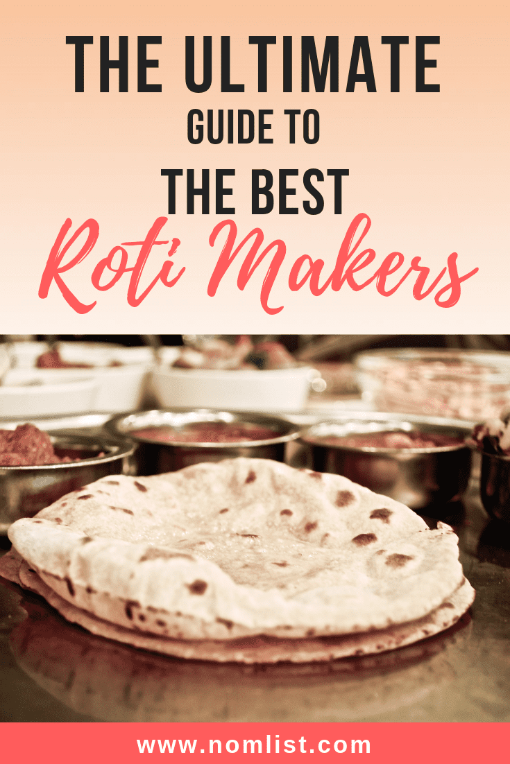 You may have heard that roti is flatbread. It's an Indian bread that can be difficult to make but these recommended roti makers make the process much easier! #indianfood #indiancooking #indian #roti #indianroti #rotimaker #indianrecipes #recipesathome #kitchen #kitchentools #kitchenappliances #flatbread