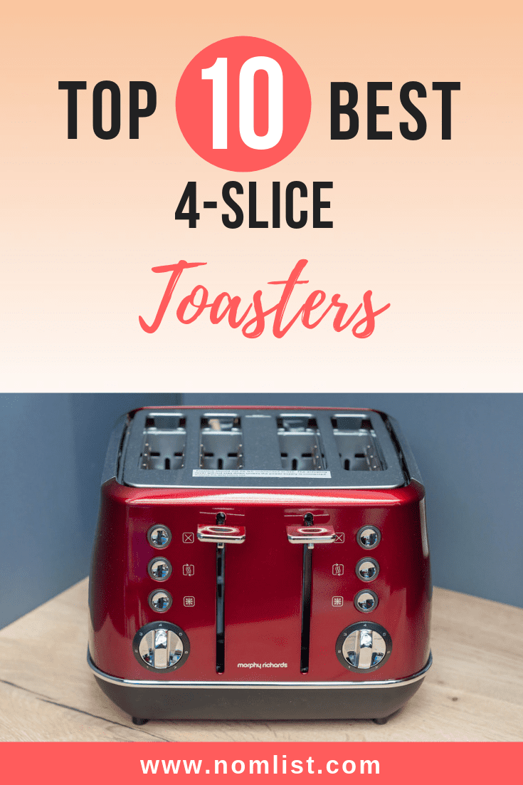 We compiled this list of the best four slice toasters, which are perfect if you prepare toasting goodies for more than one person in your household. Some of these models even allow you to control the separate sides of the toaster, to meet everyone's toasting needs. #kitchen #kitchenapplances #toaster #toast #bread #toaster #toasteroven #4slicetoast #kitchentools