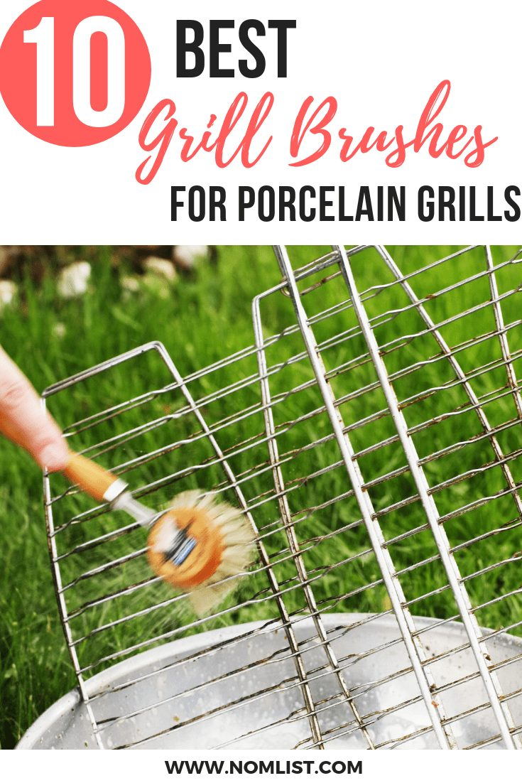 If trying to decide what type of grill brush to buy has always puzzled you, then here are a few of the choices that come to the top of the list when looking for the 10 Best Brushes for Porcelain Grill Grates. #porcelaingrill #grilling #grills #bbq #barbecue #porcelainbarbecue #allaboutBBQ #outdoorbbq #outdoorgrill #grillingrecipes