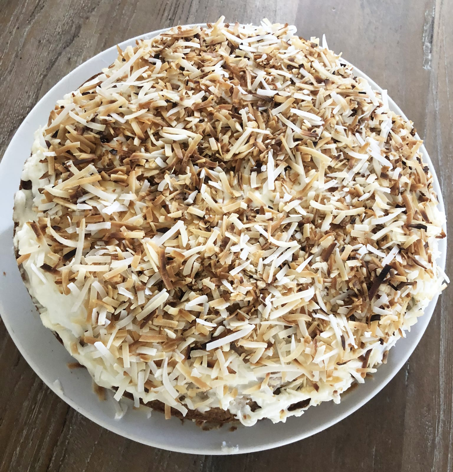 Banana Cake with Coconut Frosting - Clodagh's Supper