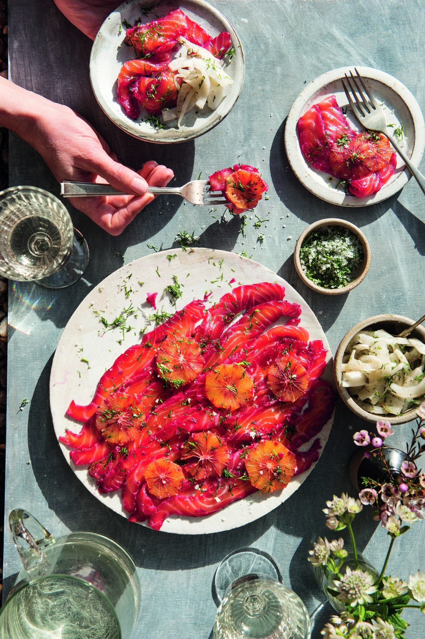 Beet, Blood Orange & Gin-cured Salmon with Fennel & Dill Pickle - Clodagh's Suppers