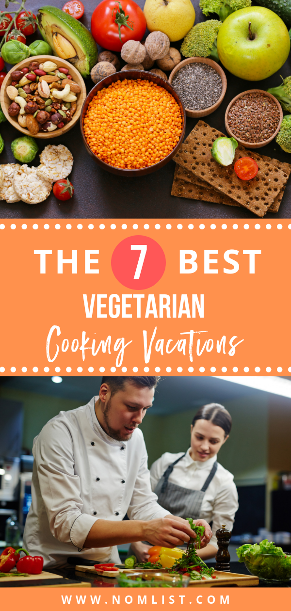 You can enjoy fine dining and top cuisine prepared by world class chefs while on vacation even if you are a vegetarian. We found the best seven vegetarian cooking vacations from around the world for the non-meat eaters out there. #vegetarian #vegetables #vegetariancooking #vegetarianrecipes #vegetables #vegetarianfood
