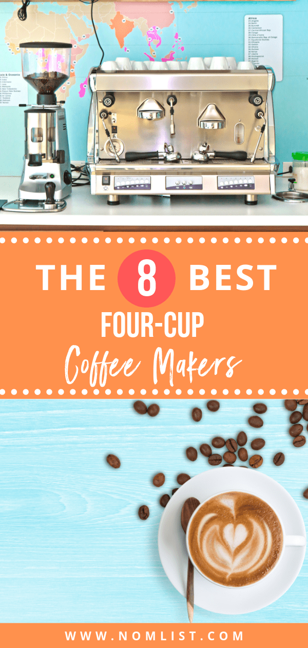 Whether you are a religious coffee drinker or only drink coffee when you haven't gotten quite enough sleep to make it through the day, you always want to have a reliable coffee maker. We've found the best eight four-cup coffee makers for all your brewing needs! #coffee #coffeemaker #coffeemakers #fourcup #cupofcoffee #espresso #coffemachine #kitchenappliances