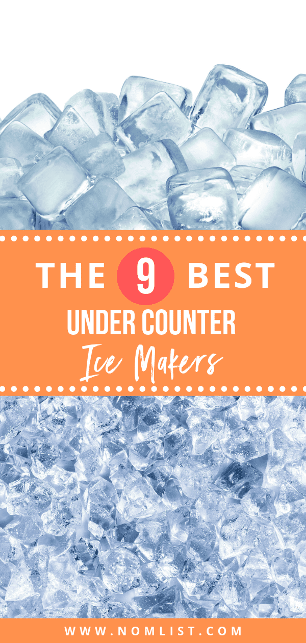 Undercounter ice makers are also called built-in ice makers and they are perfect for entertaining. Here are our top 10 picks for the Best Undercounter Ice Machines! #ice #icemachine #icemaker #kitchenappliaces #kitchentools #icemakers #shavedice