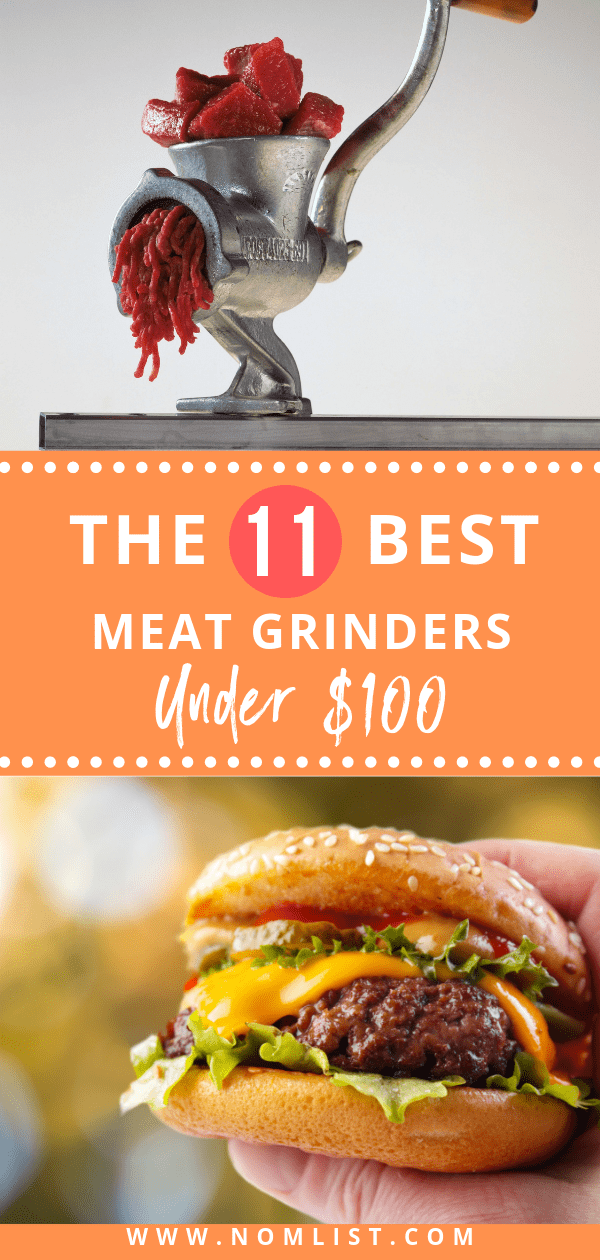 To get the freshness, quality, and flavor right, many at-home cooks prefer to grind their own meat. So, we did the homework for you and found the best meat grinders under 100 dollars for those who want to grind it out at home!  #meatgrinder #meatgrinders #under100dollars #affordable #kitchentools #meat #meatrecipes