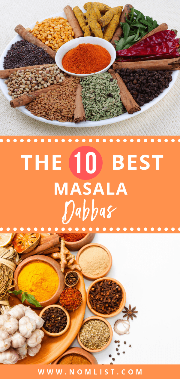 Indians know exactly what a masala dabba is and what to do with it. Here is our top 10 list of the best Masala Dabbas. #dabba #masaladabba #indianfood #indiancuisine #indiancooking #indian #indianspices #dabbas #masaladabbas #indianrecipes #indianrecipe #kitchenappliances #kitchentools