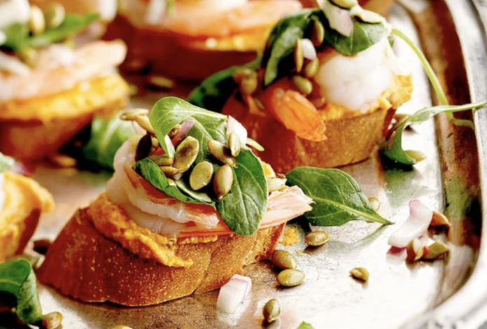 Shrimp Bruschetta Pumpkin