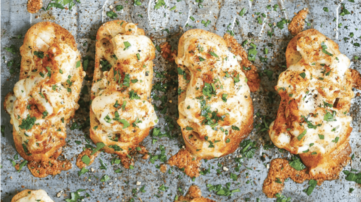 Cheesy Shrimp Toast