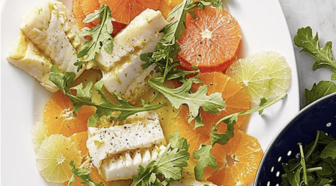 Cod over a Citrus Salad