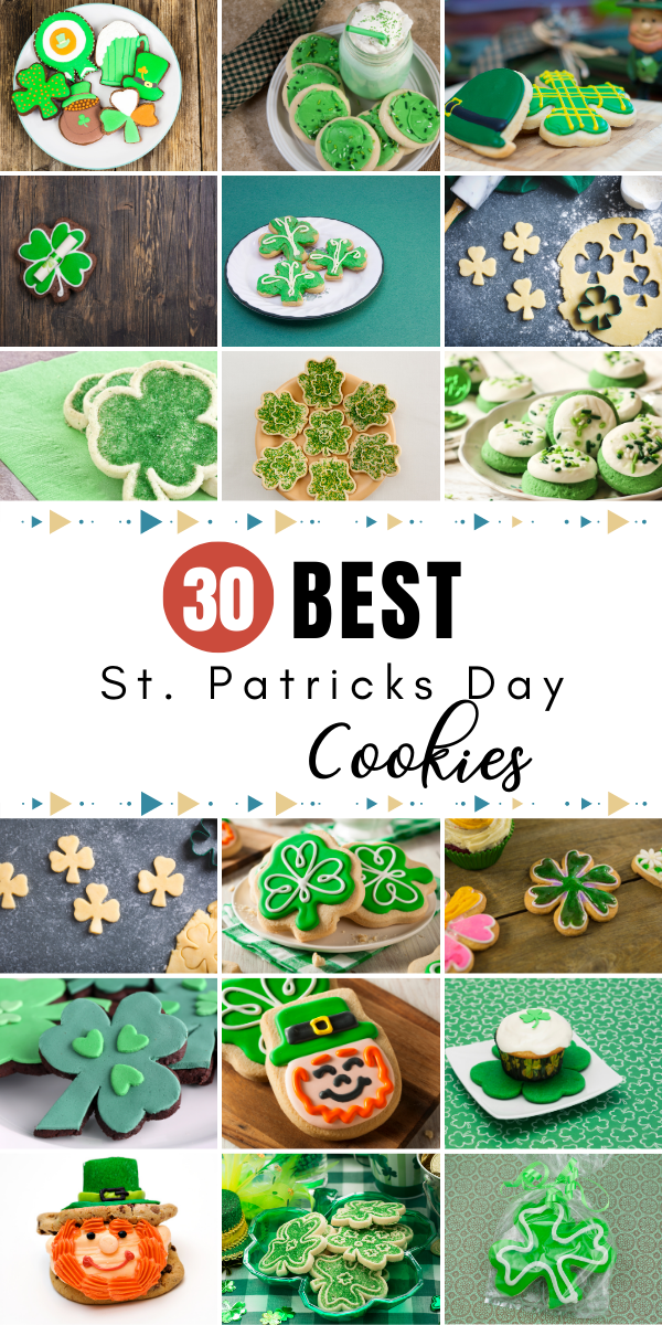 Want to celebrate St. Patrick's Day with something delicious, green, and sweet? Check out these 30 best St. Patrick's Day cookies for you to try at home!