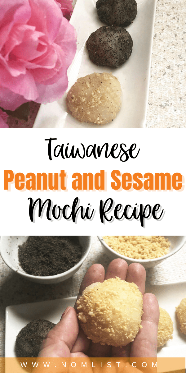 If you're ready to up your Taiwanese desert game, you need to try out this peanut and sesame mochi recipe. It's the perfect balance of sweet with Asial flavors.