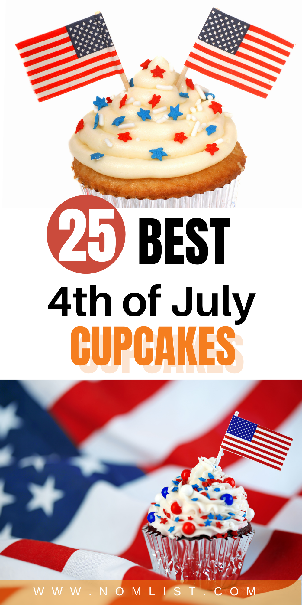 There's no better way to celebrate the 4th of July with something sweet. These delicious 4th of July cupcakes are the perfect baked recipes that will impress your family and friends. Check out the 25 best Fourth of July cupcakes that you will LOVE!