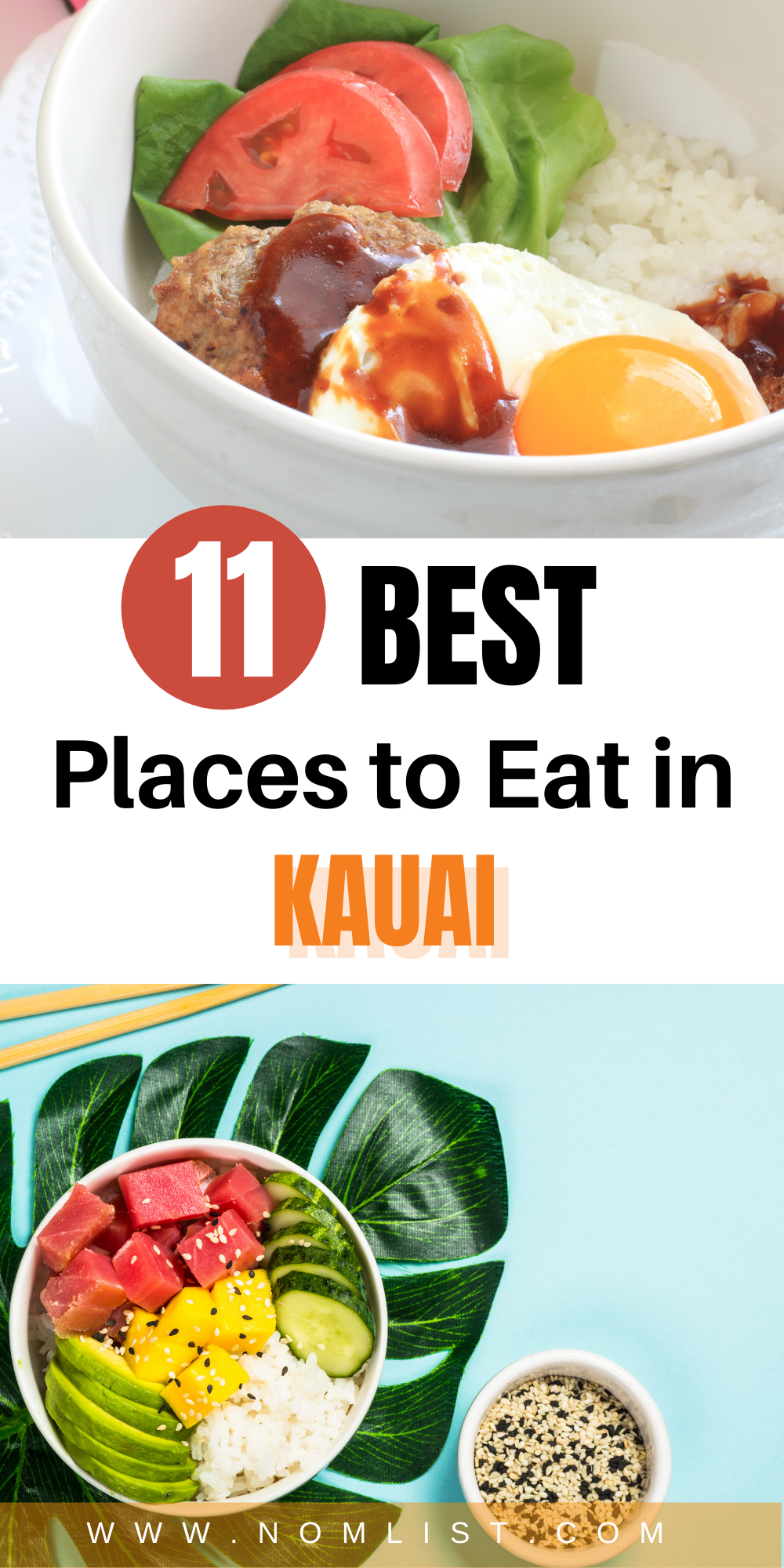 Many of these local restaurants below feature delicious plate lunches! Here is our list of the 11 top local places to eat in Kauai!